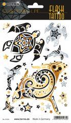 """Herma Flash Tattoo No. 15184 öntapadó tetoválás matrica """"Ocean"""" motívumokkal."""