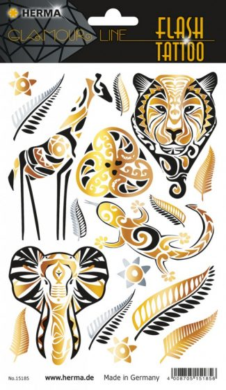 """Herma Flash Tattoo No. 15185 öntapadó tetoválás matrica """"Ethno Style"""" motívumokkal."""