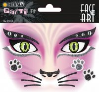 """Herma Face Art No. 15310 öntapadó arc matrica """"Cat"""" motívumokkal."""