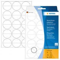 Herma 2279 öntapadó lezáró címke