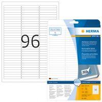 Herma 4202 nyomtatható öntapadós visszaszedhető etikett címke