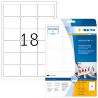 Herma 4203 nyomtatható öntapadós visszaszedhető etikett címke