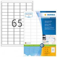 Herma 4254 fehér színű öntapadós etikett címke