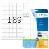 Herma 4333 fehér színű öntapadós etikett címke