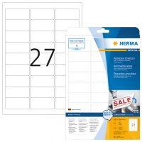 Herma 4347 nyomtatható öntapadós visszaszedhető etikett címke