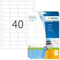 Herma 4357 fehér színű öntapadós etikett címke