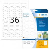 Herma 4380 nyomtatható ovális alakú öntapadós visszaszedhető etikett címke