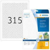 Herma 4385 nyomtatható kör alakú öntapadós visszaszedhető etikett címke