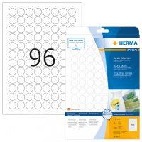 Herma 4386 nyomtatható kör alakú öntapadós visszaszedhető etikett címke
