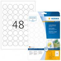 Herma 4387 nyomtatható kör alakú öntapadós visszaszedhető etikett címke
