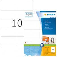 Herma 4425 fehér színű öntapadós etikett címke