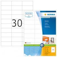 Herma 4456 fehér színű öntapadós etikett címke