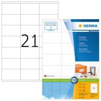 Herma 4473 fehér színű öntapadós etikett címke