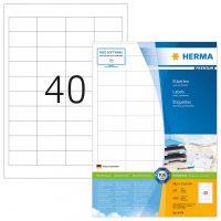 Herma 4474 fehér színű öntapadós etikett címke