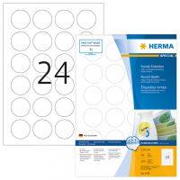 Herma 4476 nyomtatható kör alakú öntapadós visszaszedhető etikett címke