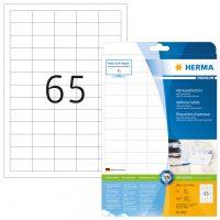 Herma 4504 fehér színű öntapadós etikett címke