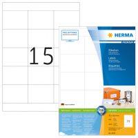 Herma 4618 fehér színű öntapadós etikett címke