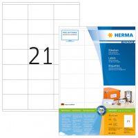 Herma 4634 fehér színű öntapadós etikett címke