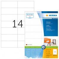Herma 4674 fehér színű öntapadós etikett címke