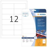 Herma 4692 öntapadós fehér időjárásálló címke