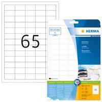 Herma 5027 fehér színű öntapadós etikett címke