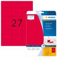 Herma 5045 neon piros színű öntapadó etikett címke