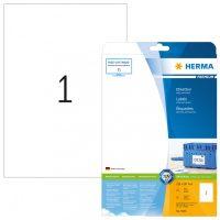 Herma 5065 fehér színű öntapadós etikett címke
