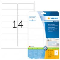 Herma 5076 fehér színű öntapadós etikett címke