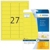 Herma 5140 neon sárga színű öntapadó etikett címke
