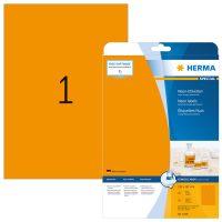 Herma 5149 neon narancssárga színű öntapadó etikett címke