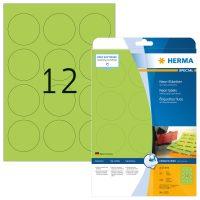 Herma 5155 neon zöld színű öntapadó etikett címke