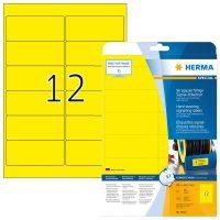 Herma 8029 öntapadós sárga időjárásálló címke