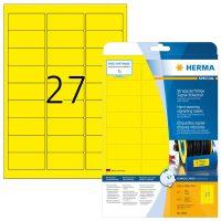 Herma 8031 öntapadós sárga időjárásálló címke