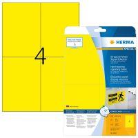 Herma 8032 öntapadós sárga időjárásálló címke