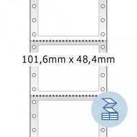 Herma 8113 nyomtatható öntapadó leporellós címke
