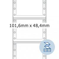 Herma 8122 nyomtatható öntapadó leporellós címke