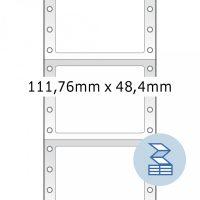 Herma 8166 nyomtatható öntapadó leporellós címke