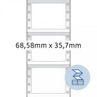Herma 8207 nyomtatható öntapadó leporellós címke