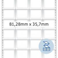 Herma 8242 nyomtatható öntapadó leporellós címke
