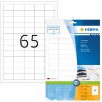 Herma 8629 fehér színű öntapadós etikett címke