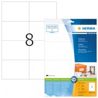 Herma 8645 fehér színű öntapadós etikett címke