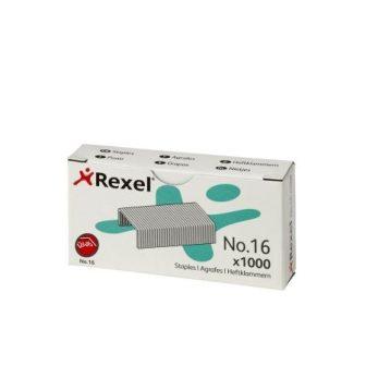 Rexel No. 16 (24/6) tűzőkapocs - kiszerelés: 1000 darab tűzőkapocs / doboz (Rexel 06121)
