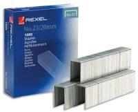 Rexel No. 23, Type 23/20 tűzőkapocs - kiszerelés: 1000 darab tűzőkapocs / doboz (Rexel 2100926)