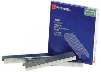 Rexel No. 23, Type 23/6 tűzőkapocs - kiszerelés: 1000 darab tűzőkapocs / doboz (Rexel 2101211)