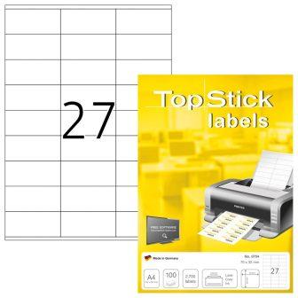 TopStick 8704 öntapadós etikett címke