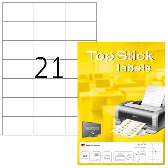TopStick 8708 nyomtatható öntapadós etikett címke