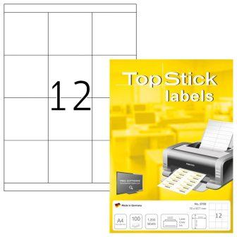 TopStick 8709 öntapadós etikett címke