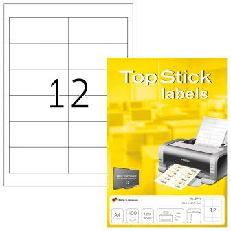 TopStick 8711 nyomtatható öntapadós etikett címke