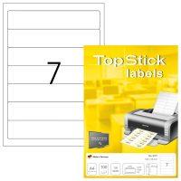 TopStick 8721 nyomtatható öntapadós etikett címke