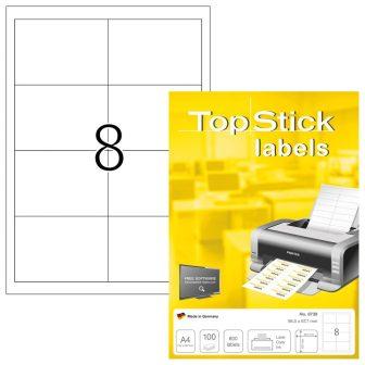 TopStick 8739 nyomtatható öntapadós etikett címke